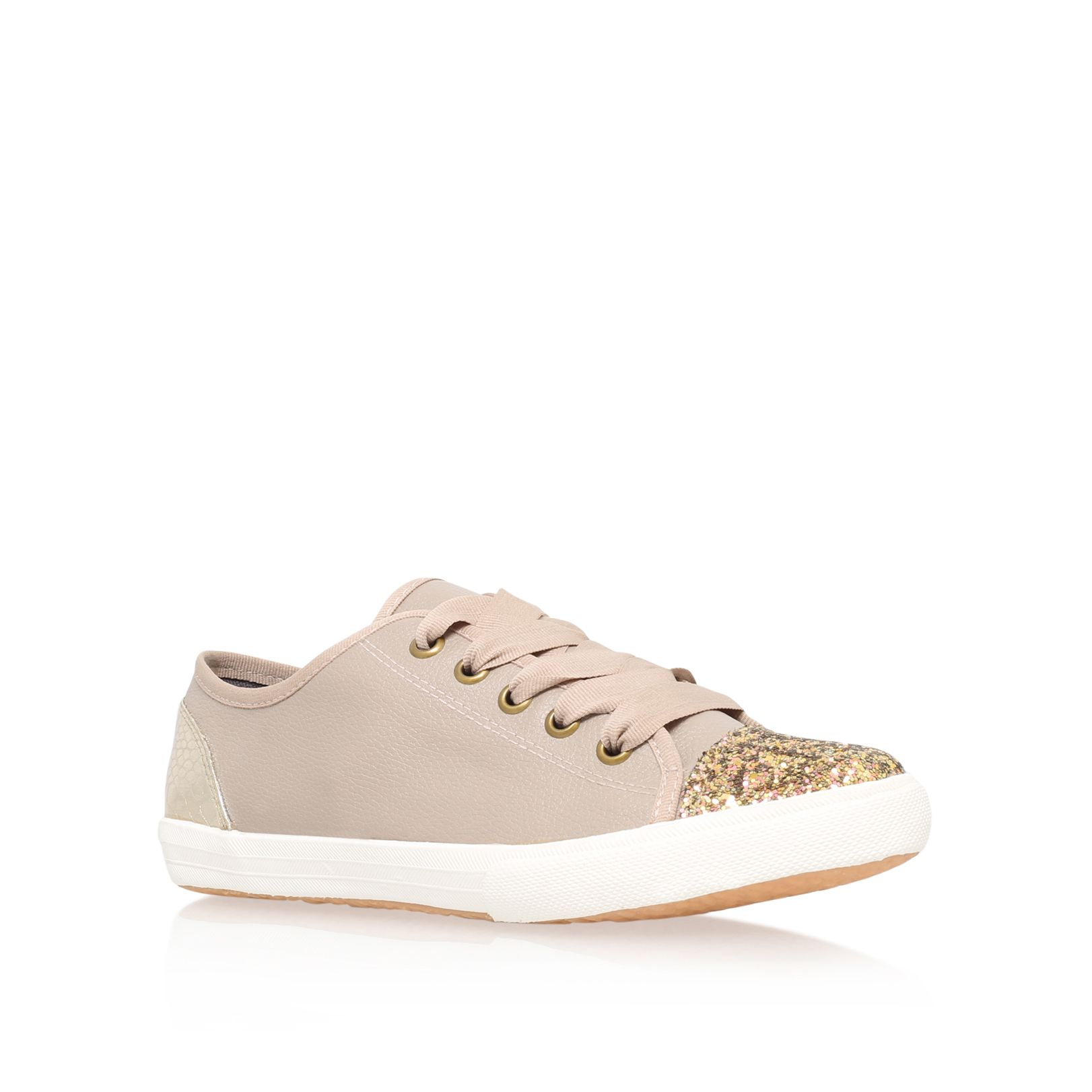 KG Lucca flat lace up trainers, Nude