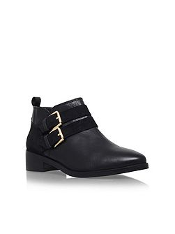 Salvador low heel buckle ankle boots
