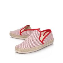 Ainsley Red Woven Slip Ons