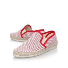 KG Ainsley Red Woven Slip Ons