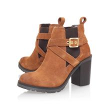 Tacoma buckle block heel ankle boots