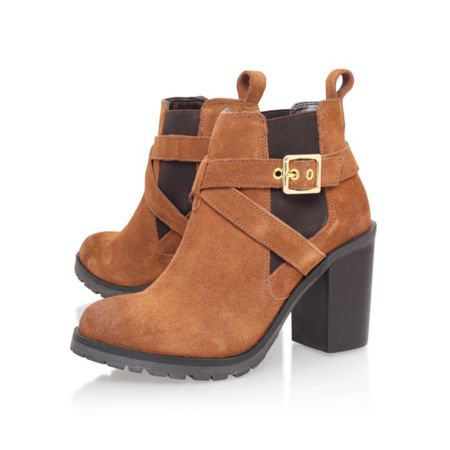 Carvela Tacoma buckle block heel ankle boots