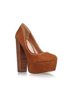 Ariel block heel platform court shoes