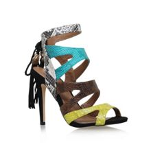 Forest high heel multi strap sandals