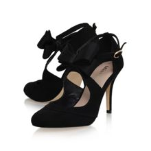 Belle bow detail high heel court shoes