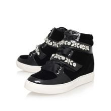 Lareina flat embellished hi top trainers
