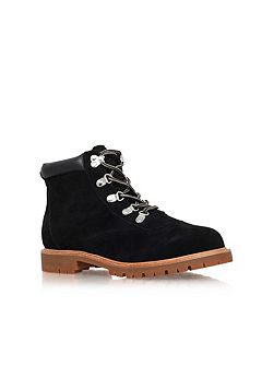 Soda flat lace up ankle boots