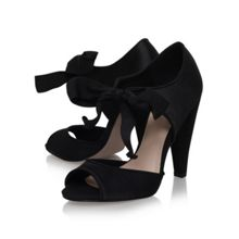 Capri high heel tie detail court shoes