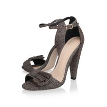 Cady high heel ankle strap court shoes