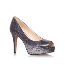 Nine West Camya3 high heeled peep toe court shoes