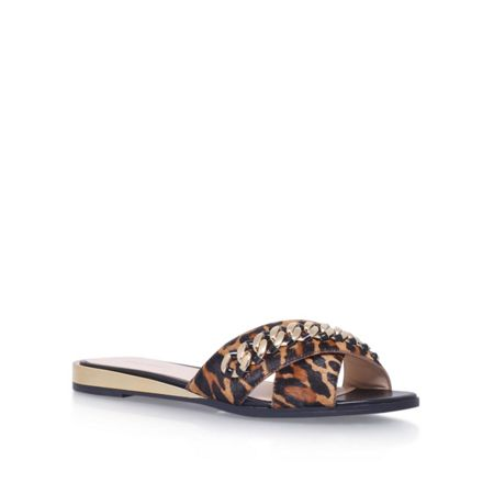 Nine West Xray5 flat printed sandals