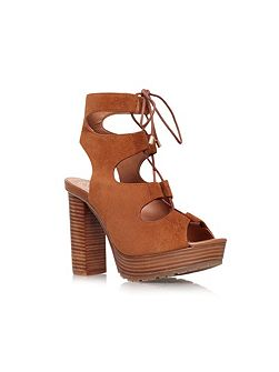 Henna high heel lace up shoe boots