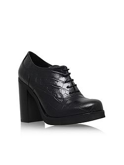 Alfred block heel platform lace up shoes