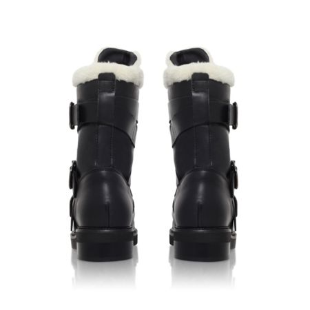 Carvela Snow low heel biker boots