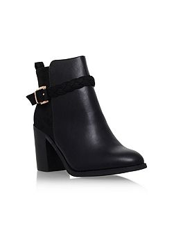 Swift mid block heel buckle ankle boots