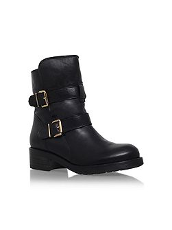 Richmond buckle calf high boots