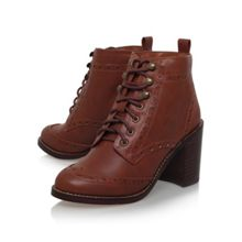 Seattle high heel lace up ankle boots