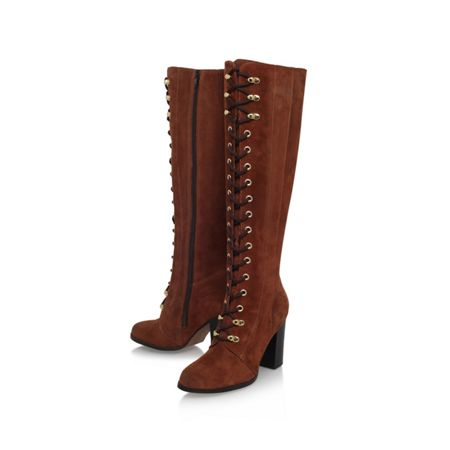 Carvela Wander high heel lace up knee boots