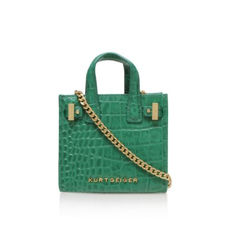 Kurt Geiger London Croc micro london tote bag