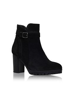 Support high heel ankle boots
