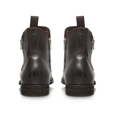 Officine Double zip leather chelsea boot
