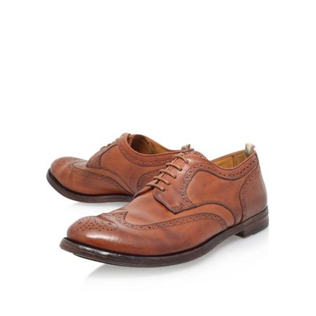 Officine 6 eye wc derby punched lace up brogue