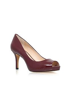 Kiley high heel peep toe court shoes