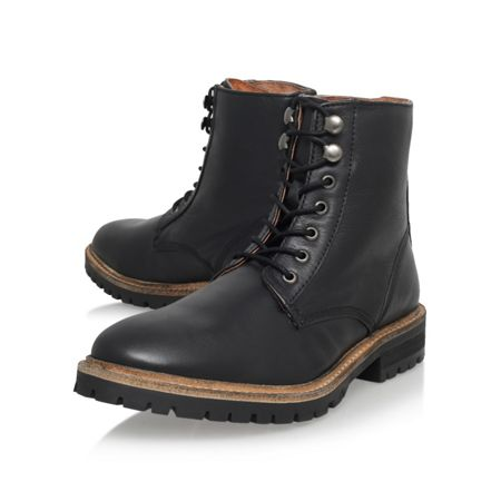 KG Hibbert Black Lace up Boot