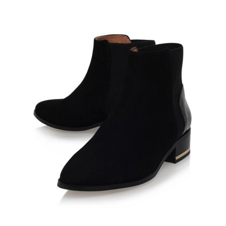 kurt geiger nevern flat pointed toe ankle boots black