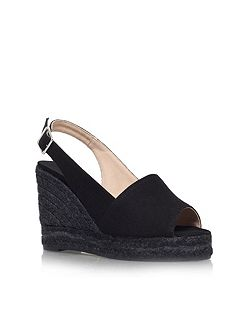 Bella 8 high wedge heel peep toe shoes