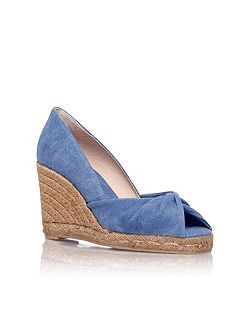 Tulsa 8 high wedge heel peep toe court