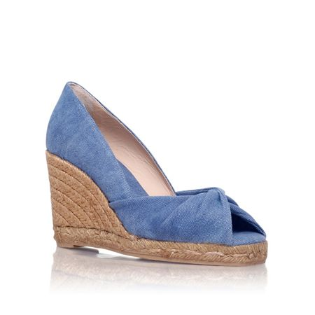 Castaner Tulsa 8 high wedge heel peep toe court