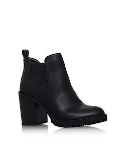 Silent high block heel ankle boots