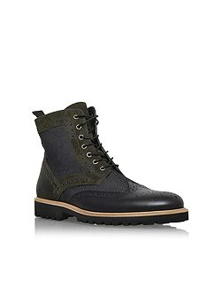 Hughes leather lace up boots