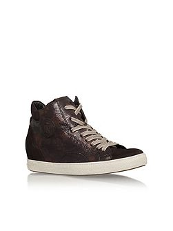 Bea flat lace up hi top trainers