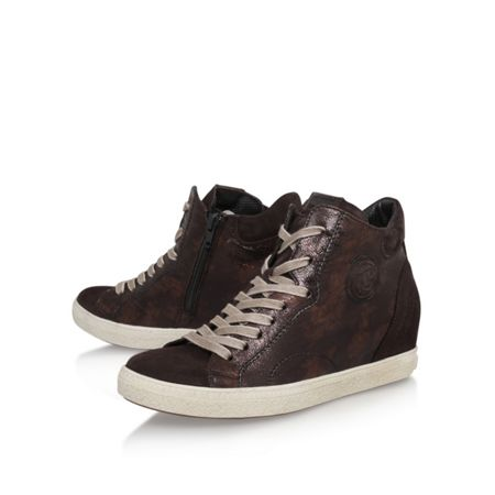 Paul Green Bea flat lace up hi top trainers