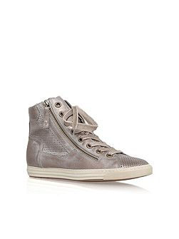 Beth flat lace up hi top trainers