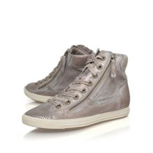 Paul Green Beth flat lace up hi top trainers