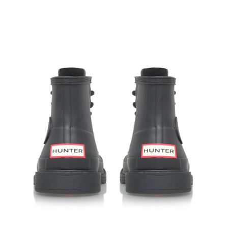 Hunter Original bullseye derby flat ankle boots