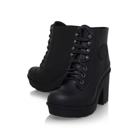Hunter Original bullseye lace up ankle boots