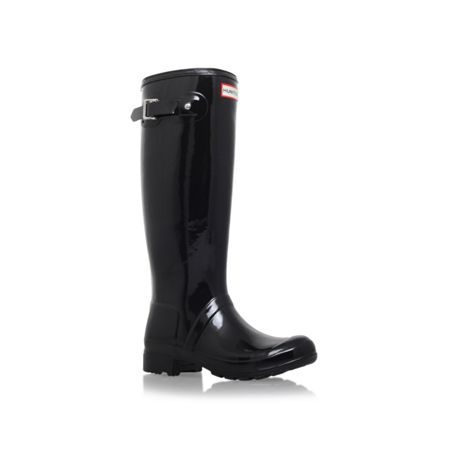 Hunter Original tour gloss flat knee high rain boots