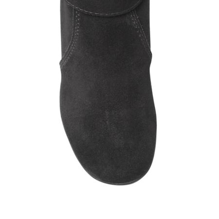 Anne Klein Incaged low heel fur lined boots