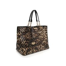 Hera leopard shoulder strap tote bag