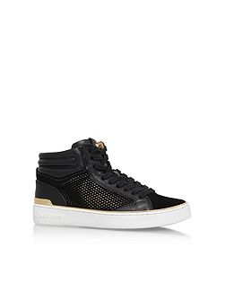 Phoebe flat lace up high top trainers