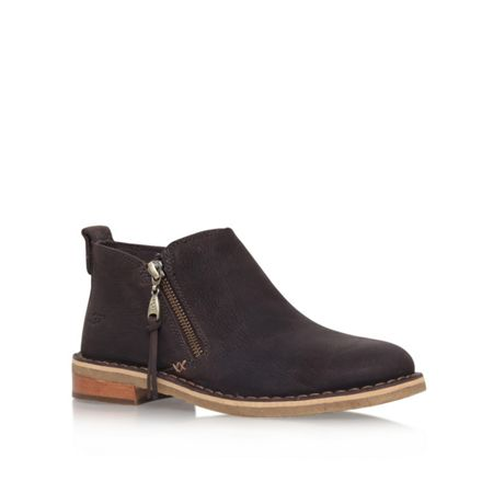 UGG Clementine flat zip up ankle boots