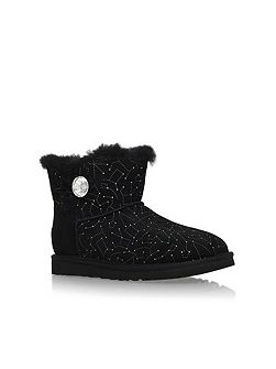Mini bailey button bling flat boots