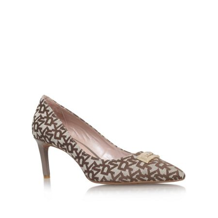 DKNY Eviey mid heel court shoes