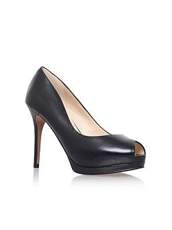 Firstbase peep toe court shoes