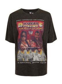 Topman Royal Rumble Print Oversized T-Shirt