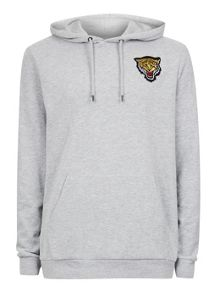 Topman Grey Tiger Badge Hoodie